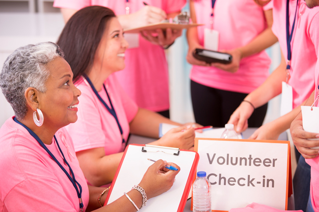Breast Cancer Awareness volunteers sign-up for local event