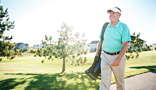 Senior Man Using Golf to Get in Shape