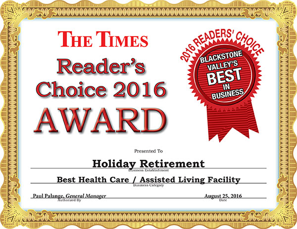 readers choice 2016 holiday retirement
