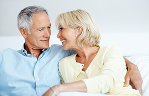 Romantic Senior Couple at an Independent Living Facility