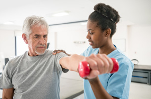 Physical Therapy Exercises in Assisted Living Community